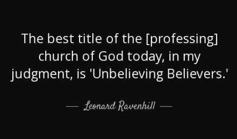 Unbelieving