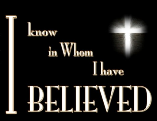 2 Timothy 1-12 I Know Whom I Have Believed-black