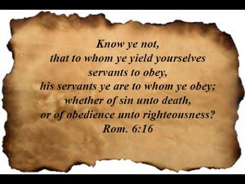 Romans 6 16