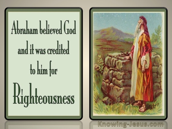 Romans 4-3 Abraham Believed God green